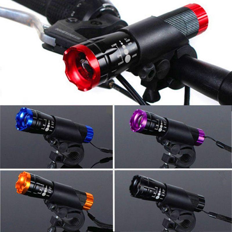 Lampe de poche étanche à la tête de vélo 300 Lumens CREE Q5 vélo avant lumière utilisation 16850 accessoires de vélo + support de torche