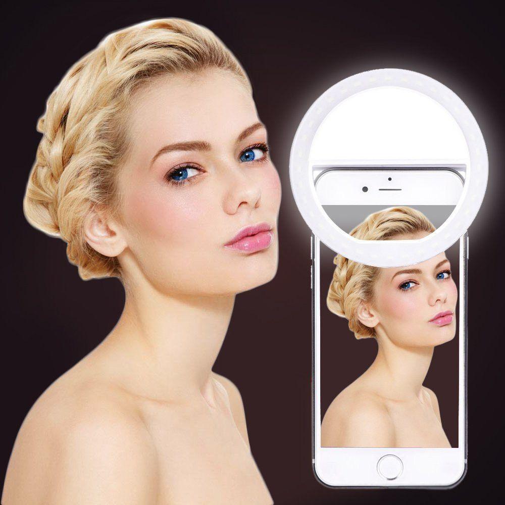Nouvelle arrivée USB Charge Selfie Portable Flash caméra LED téléphone photographie anneau lumière amélioration photographie pour iPhone Smartphone