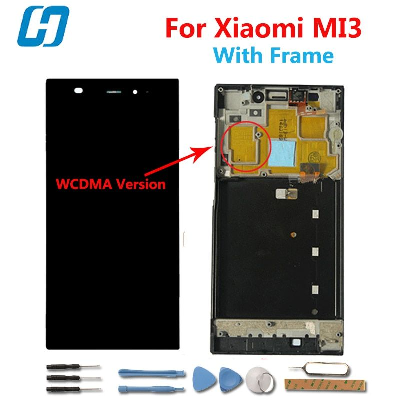 Hacrin For xiaomi mi3 Display Lcd+Touch Screen With Frame Digital Panel Glass Replacement For Xiaomi Mi3 M3 WCDMA Phone
