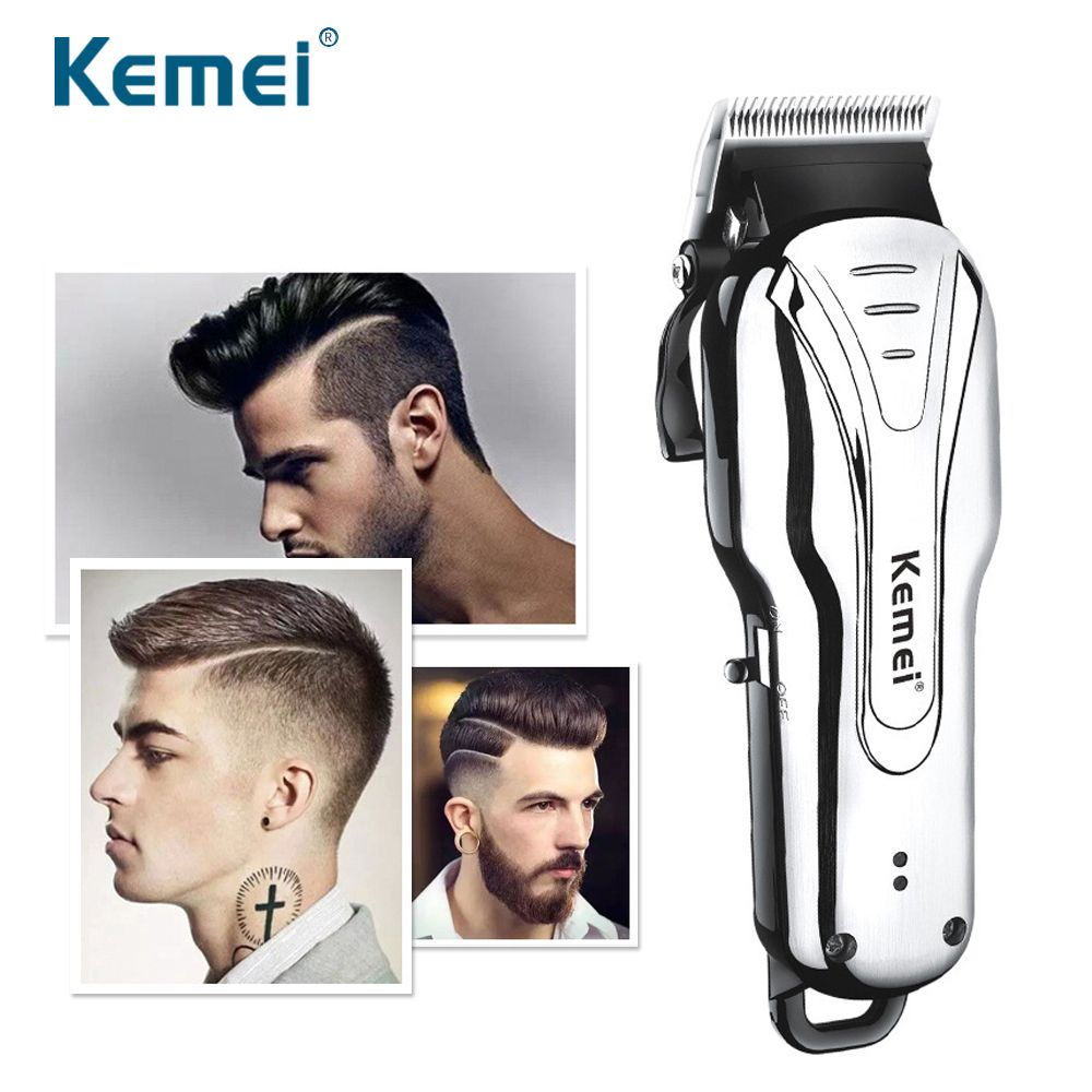 Kemei Carbon Steel Head Hair Trimmer Rechargeable Electric Razor Men Beard Shaver Electric Hair Clipper For Home And Car 1992