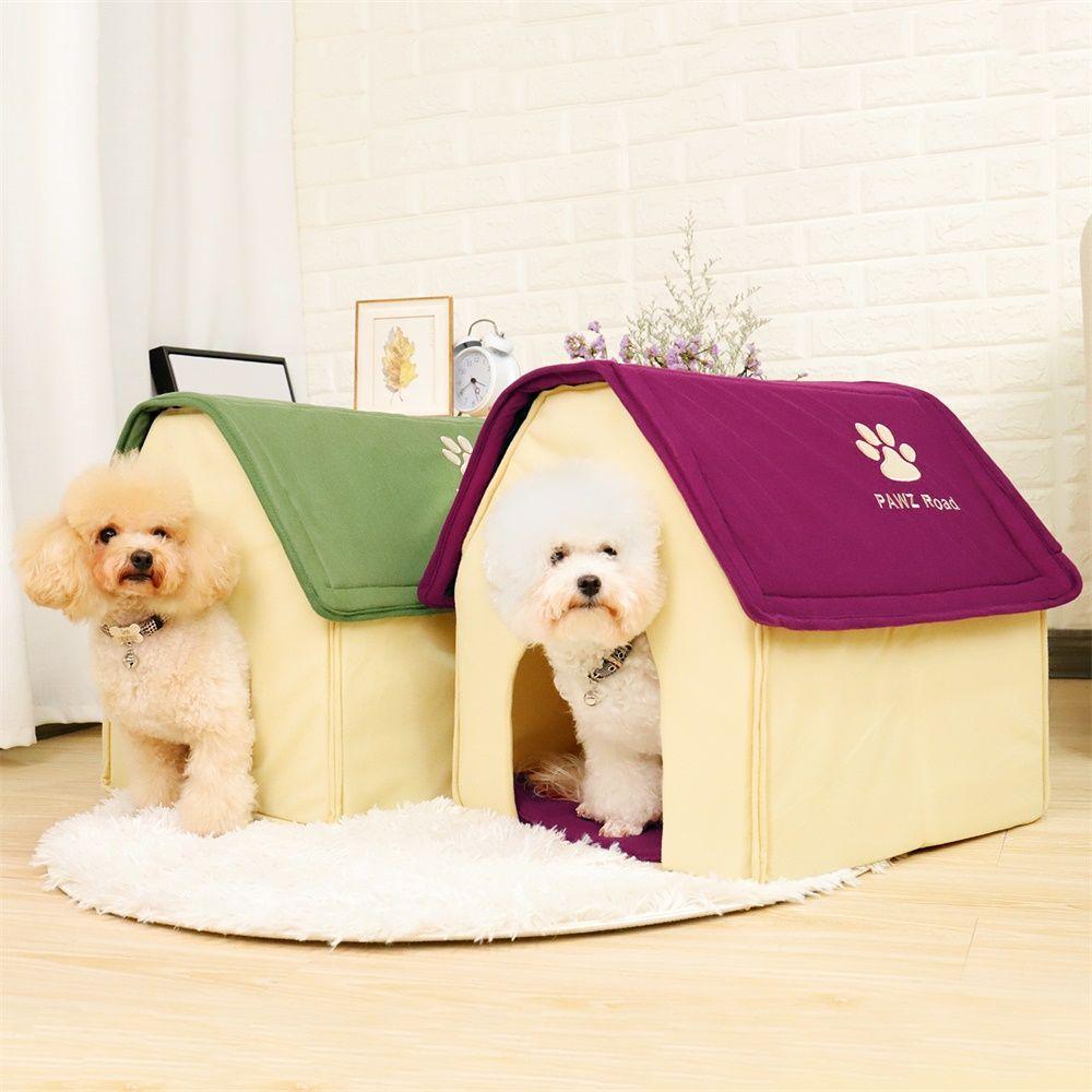 CHAUDE!! Chien Lit Cama Para Cachorro Doux Chien Maison Couverture Option Chien Chat Maison Forme 2 Couleurs Rouge/Vert chiot Chenil Doux