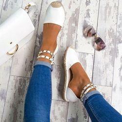 Mujeres sandalias moda Peep Toe verano Zapatos Mujer Faux Suede Sandalias planas tamaño 35-43 zapatos Casual Mujer Sandalias zapatos Mujer