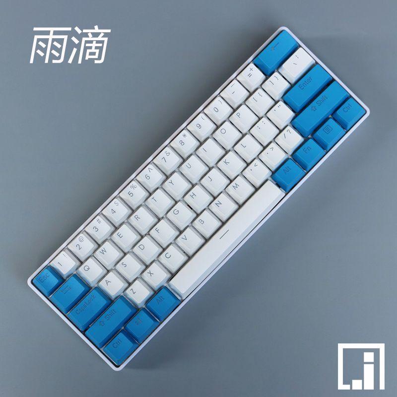 Mechanische tastatur mit hintergrundbeleuchtung PBT rot alarm legende durchscheinen druck led-beleuchtung translucent keycap kirsche mx 87 104 poker