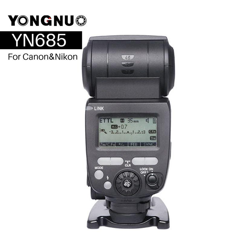 YONGNUO YN685 YN-685N Wireless HSS TTL Flash Speedlite for Canon Nikon compatible Flash Trigger YN622C-TX/YN622N-TX Kit Set