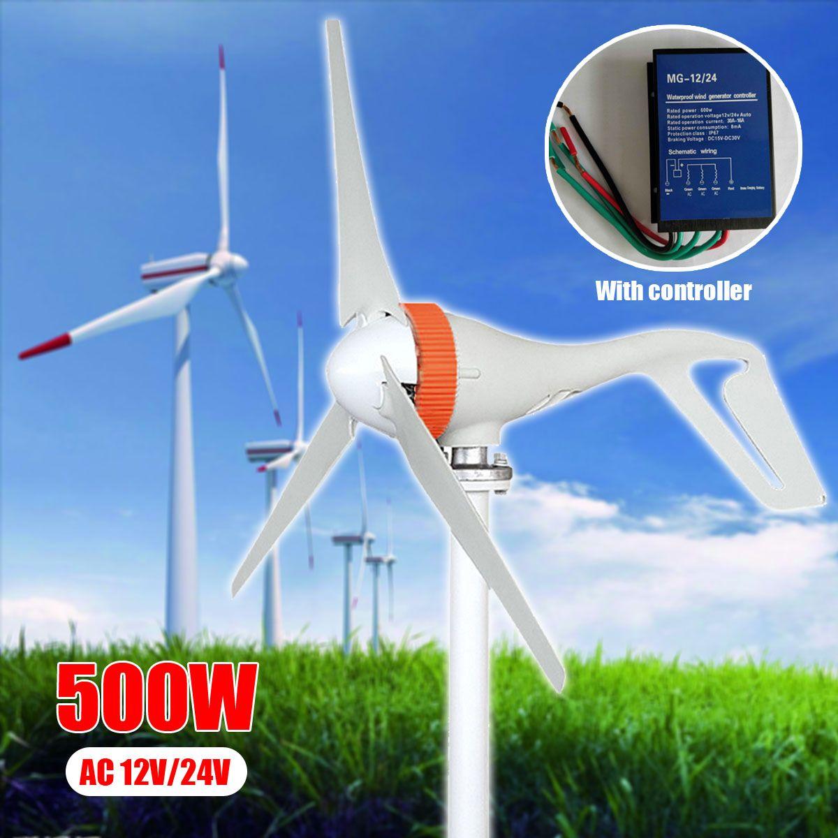 AC 12 v/24 v 500 watt Miniatur Wind Turbinen Generator Mini Windkraftanlagen Mit Controller 3 Klingen Wind generator für Den Heimgebrauch
