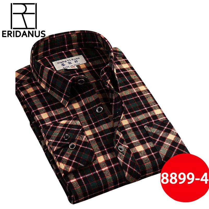 Marque hommes chemises décontractées 2017 nouveau printemps mode Slim Fit à manches longues mâle Plaid coton robe chemises de grande taille sociale 3XL X408