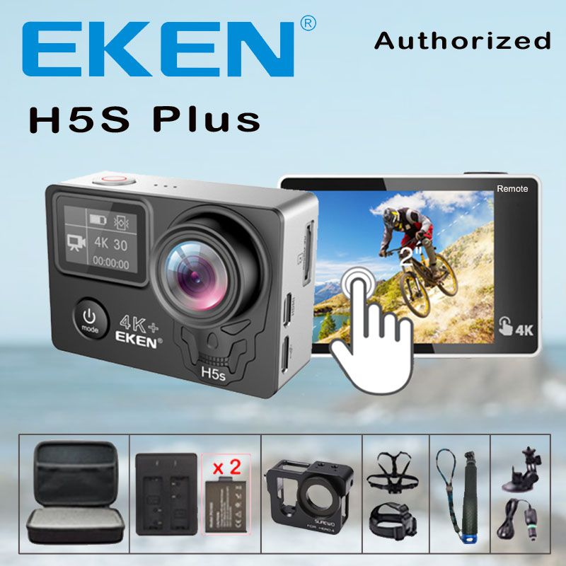 Action Camera EKEN H5S Plus Remote Control Ultra HD 4K Ambarella A12 WiFi 170 Helmet action Cam go waterproof pro Sport camera
