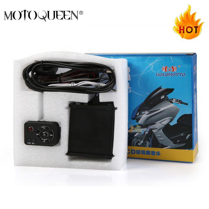 MotoQueen 35 w * 4 haut-parleurs de véhicule à moteur dirt bike lecteur mp3 radio FM ATV moto audio système mp3