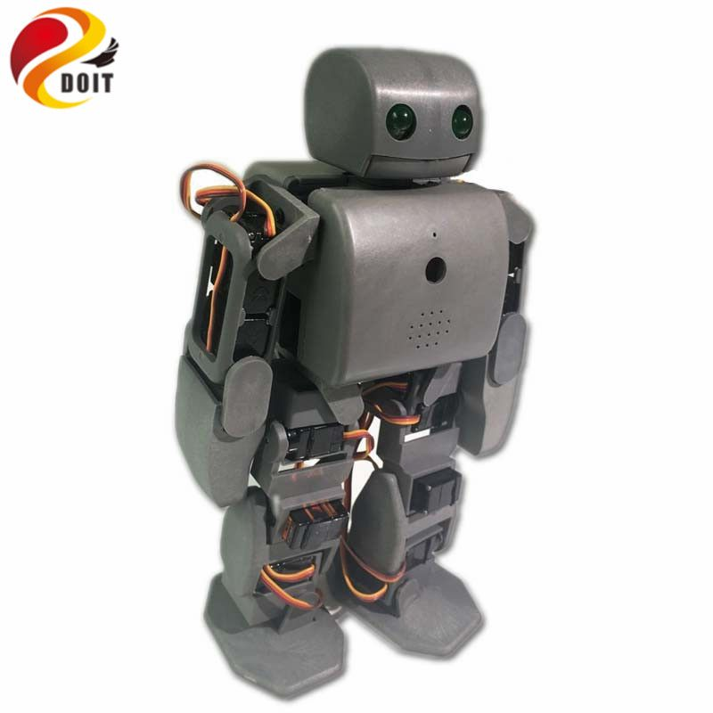 DOIT ViVi Humanoid Robot Plen2 Compatible with Arduino 3D Printer Open Source with 18pcs Servos for DIY Robot Graduation RC Toy