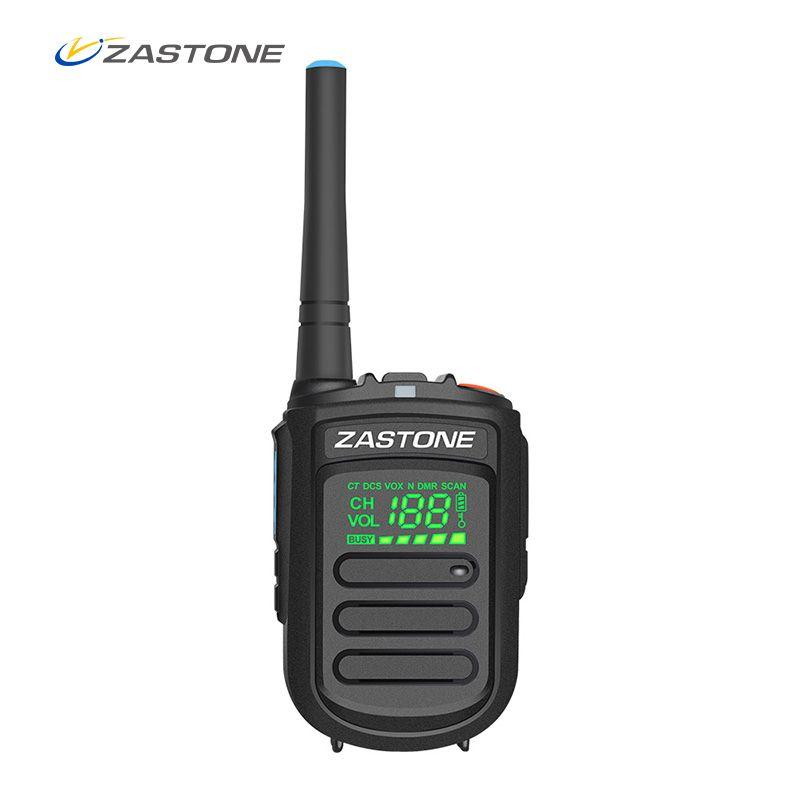 Zastone Mini9+ DMR Mini Portable Digital Walkie Talkie 2W UHF 400-470MHz HF Transceiver Communicator Handheld Two-Way Radio