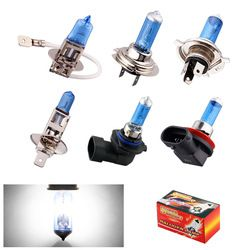 H1 H3 H4 H7 H8 H9 H11 HB3 HB4 9006 55W 5000K Super Bright White car light halogen lamp bulb Car Styling Headlight Fog Lights