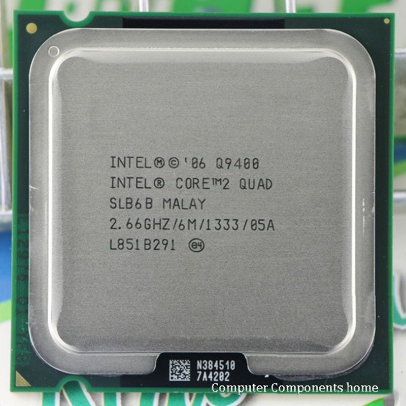 Intel Core 2 quad q9400 Процессор процессор (2.66 ГГц/6 м/1333 ГГц) socket 775 Настольный Процессор Бесплатная доставка материнской Процессор комбо