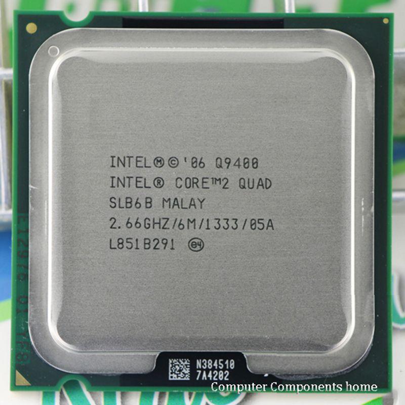 Intel core 2 quad Q9400 CPU Processeur (2.66 Ghz/6 M/1333 GHz) Socket 775 CPU De Bureau livraison gratuite carte mère cpu combo