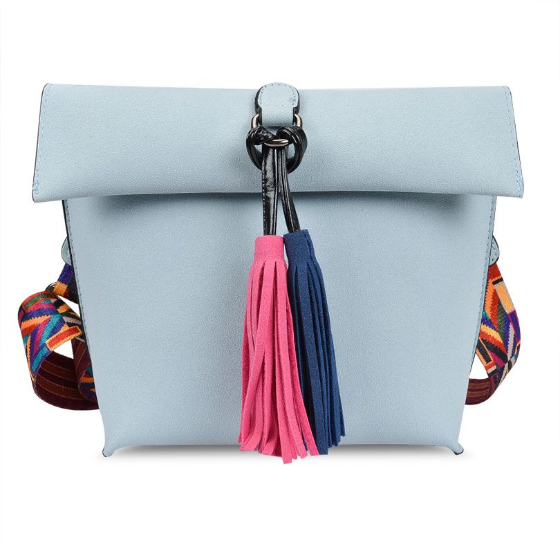 Antbook Fashion Lady's Bag Pu Leather Tassel Women Messenger Bag Solid Shoulder Bag Designer High Quality Summer Women Handbags