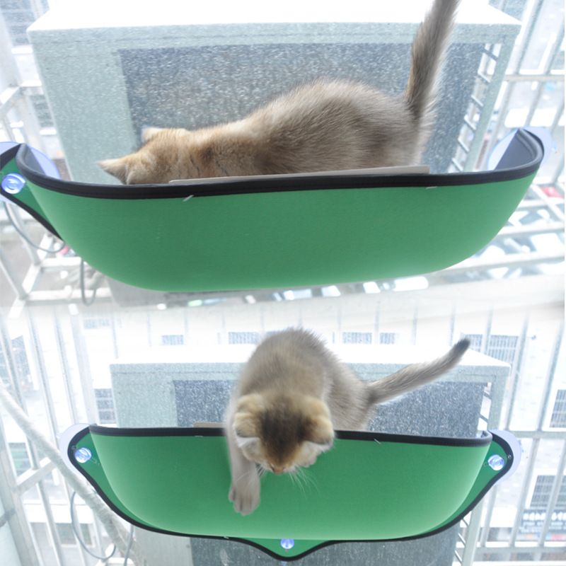 HEYPET Cat Hammock Cat Window Bed Lounger Sofa Cushion <font><b>Hanging</b></font> Shelf Seat with Suction Cup for Ferret Chinchilla