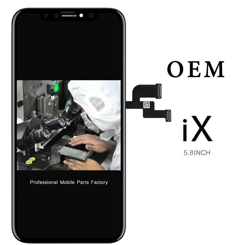 Free DHL 1 pcs OEM quality display for iphone X lcd digitizer with touch screen assembly replacement +camera ring