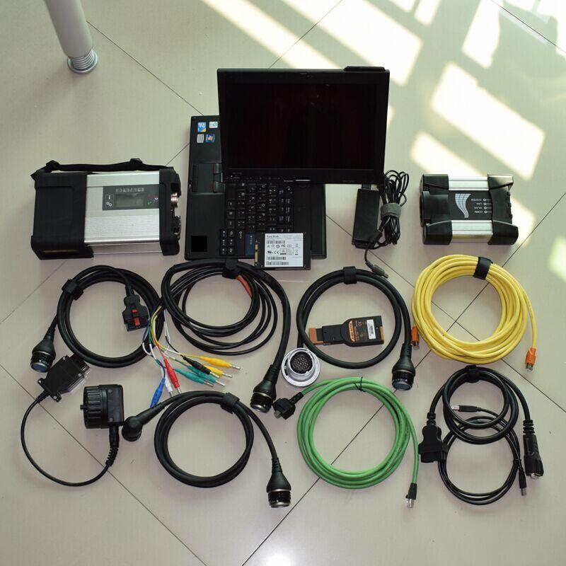 2018 mb sterne c5 und für bmw icom nächsten 2 IN 1 neueste software SSD 1 tb mit laptop x201t i7 bereit zu bedienen diagnose werkzeug