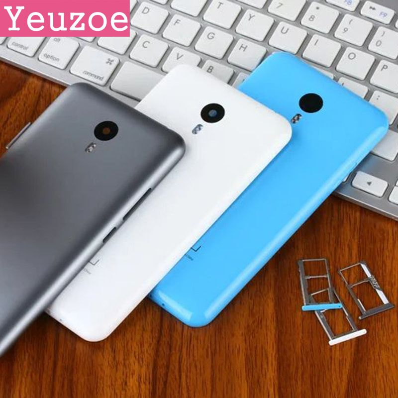 Original Spare Parts SIM Card Tray for Meizu Note 2 Battery Back Cover case For Meizu M2 Note back replacement, Camera Lens+ But