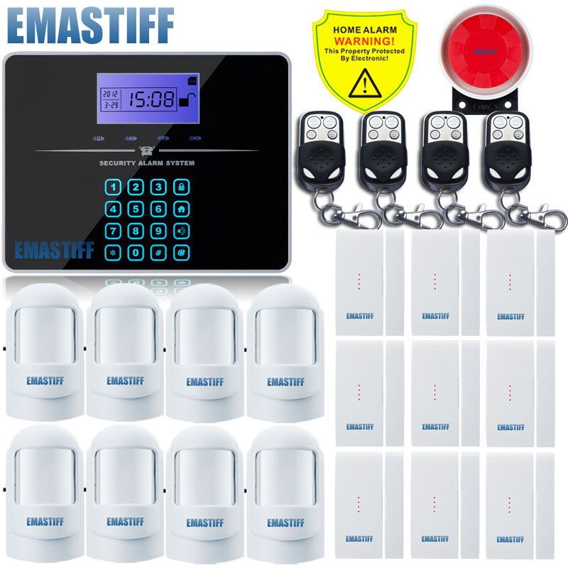 Free Shipping NEW upgrade G3B Remote Controller Touch Keypad Wireless GSM Alarm System 433MHz Home Burglar Security Alarm System