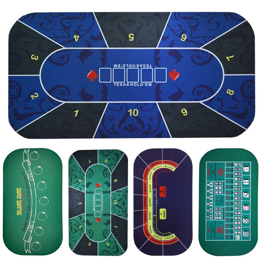 Texas Hold'em Poker noir Jack Baccarat tapis de dés 1.2*0.6 m Durable en caoutchouc maison tapis de bureau de jeu
