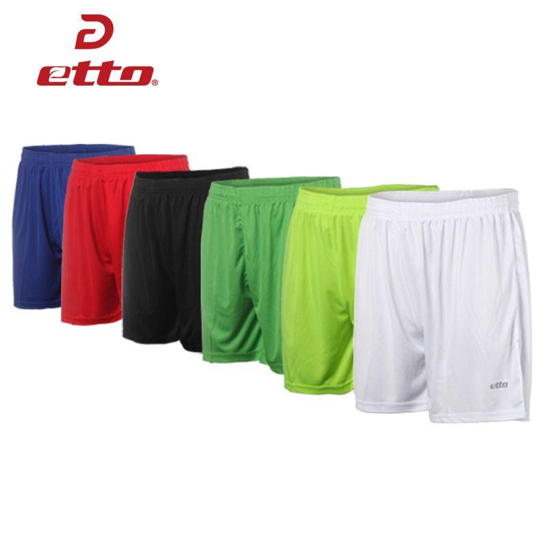 Etto qualité adulte Football Shorts hommes femmes respirant sueur-absorption séchage rapide Football Shorts équipe formation pantalon HUC001