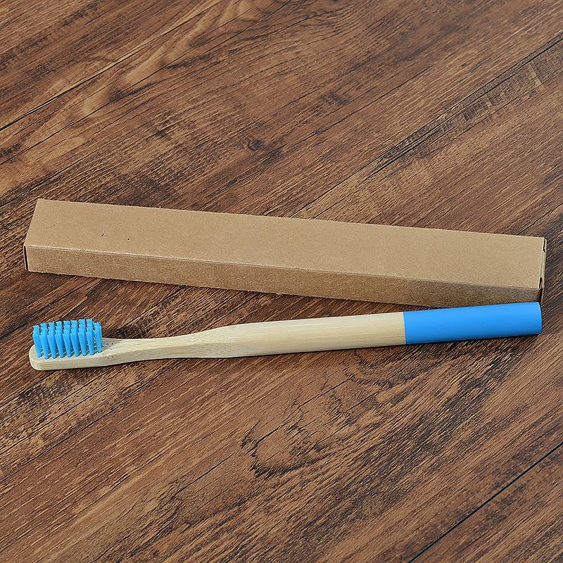 4 pièces Brosse À Dents En Bambou Poils Moyens Biodégradable En Plastique Sans Brosses À Dents Cylindriques À Faible Teneur en Carbone Eco Bambou Poignée Brosse