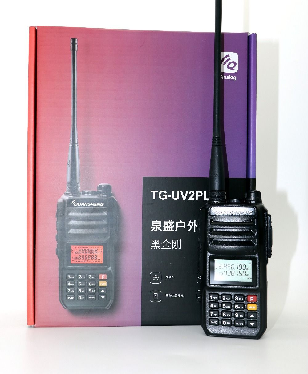 Quansheng TG-UV2 plus Walkie Talkie VHF UHF Dual band 10W 200CH Portable cb radio UV2 plus Transceiver with 4000mAh battery