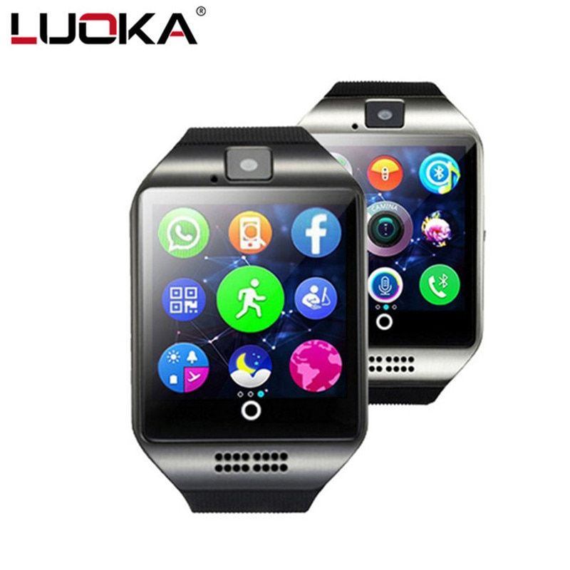 Bluetooth Smart Watch Q18 With Camera Facebook Whatsapp Twitter Sync SMS Support SIM TF Card SmartWatch For IOS Android Phone