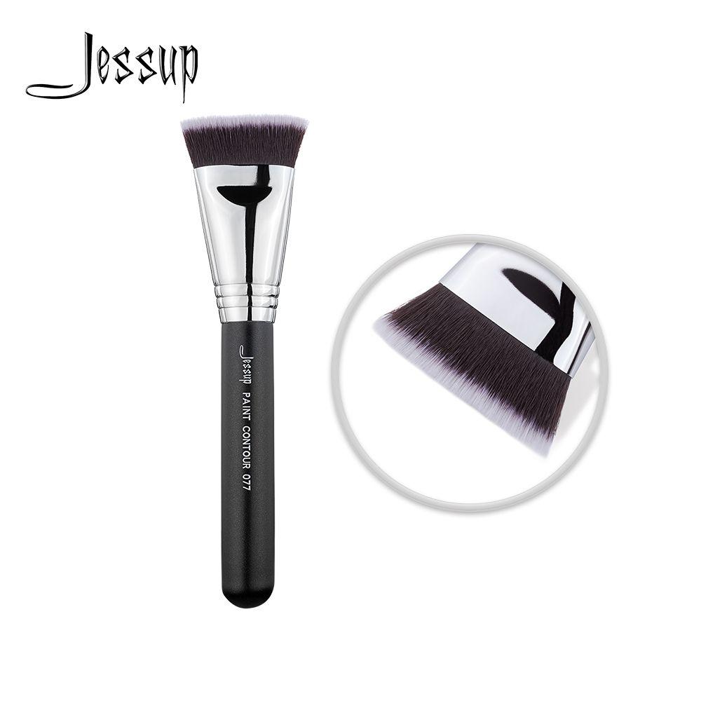 Nouveau Jessup Noir/Argent Maquillage brosses beauté outils Make up brosse visage brosse PEINTURE CONTOUR 077