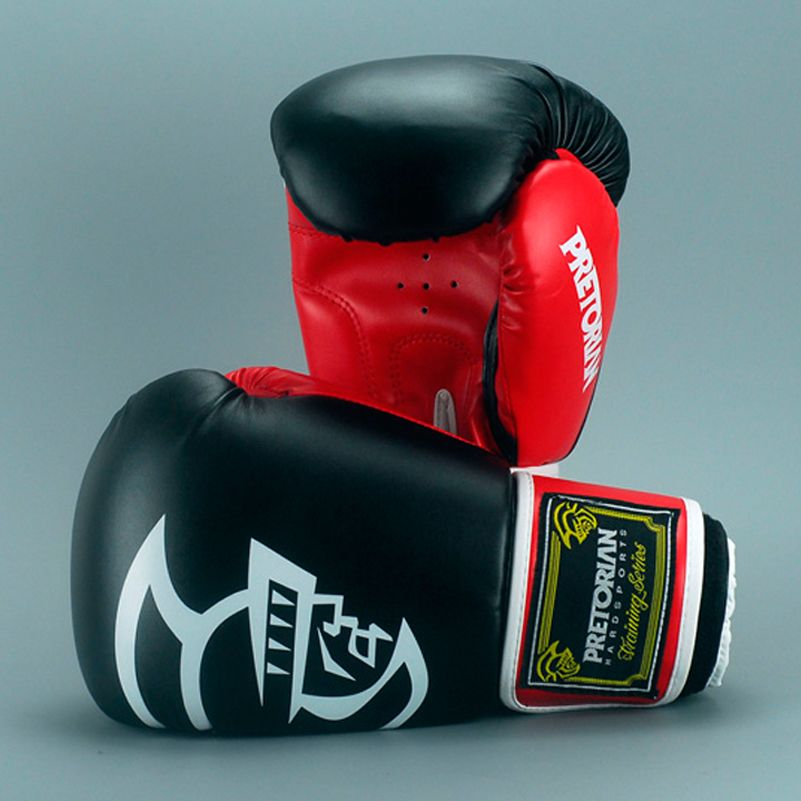 10-16 OZ Wholesale Brazilian PRETORIAN Muay Thai PU Leather Boxing Gloves Twin Women Men MMA Gym <font><b>Training</b></font> Grant Boxing Gloves