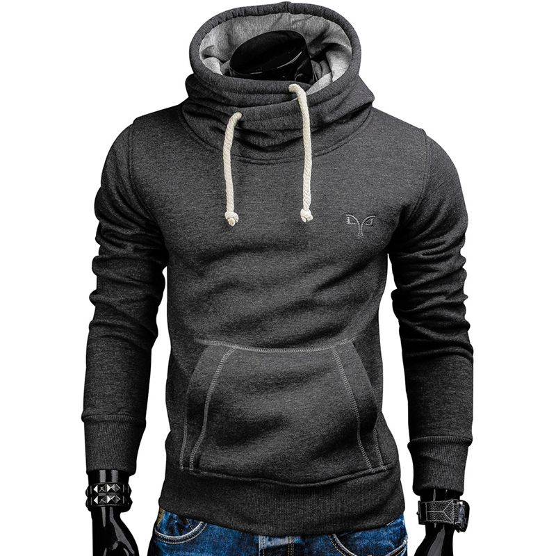 2018 New Spring Autumn Hoodies Men Fashion Brand Pullover Solid <font><b>Color</b></font> Turtleneck Sportswear Sweatshirt Men'S Tracksuits Moleton
