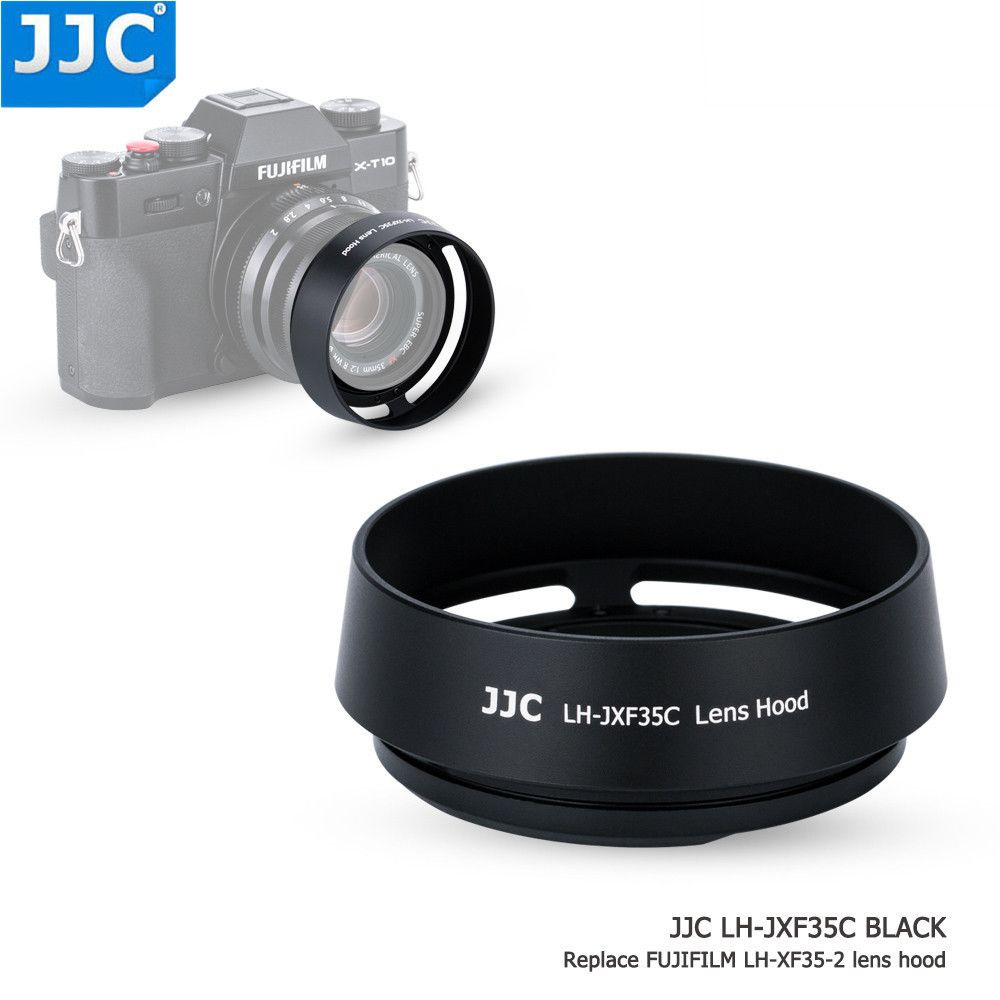 JJC Bayonet Round Camera Lens Hood 43mm Thread Size Replaces Fujifilm LH-XF35-2 for FUJINON LENS XF35mm/25mm F2 R WR