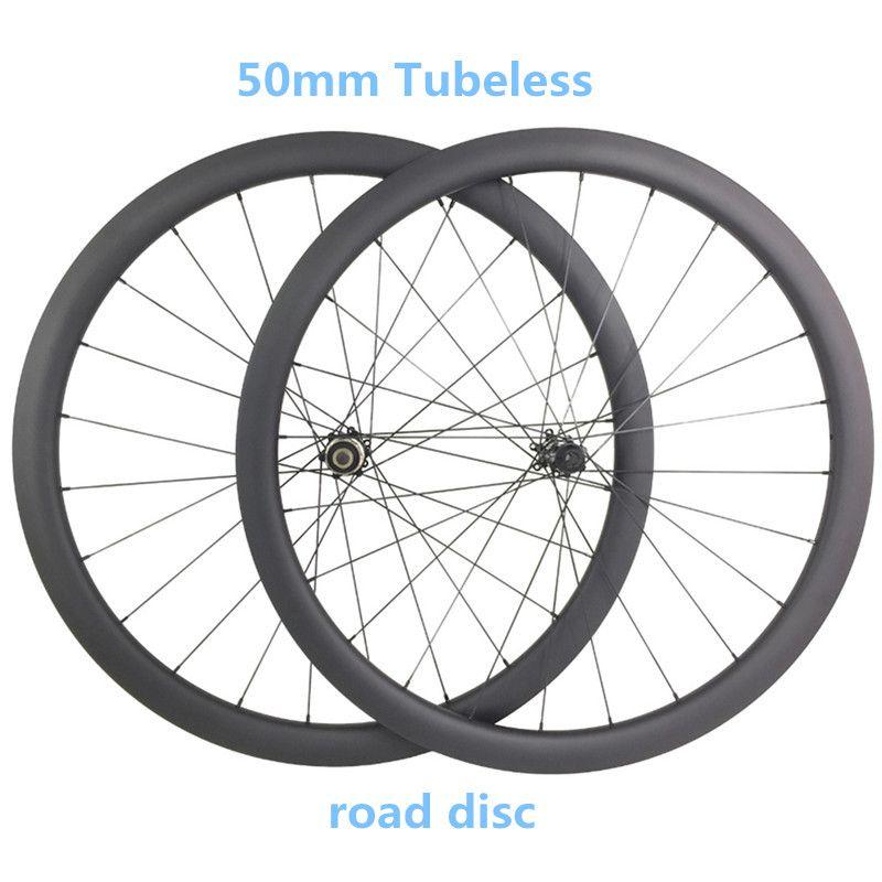 700c carbon road disc fahrrad räder 50x25mm klammer Tubeless 1550g disc räder 100 x12 142x12 fahrrad disc fahrrad räder