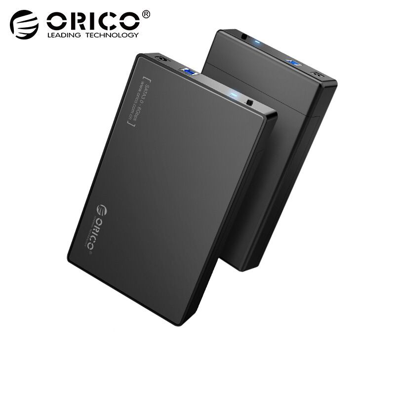 ORICO HDD Case 3.5 inch Tool Free SATA to USB 3.0 SSD Adapter Hard Drive Case External HDD Enclosure for 2.5 3.5 inch HDD SSD