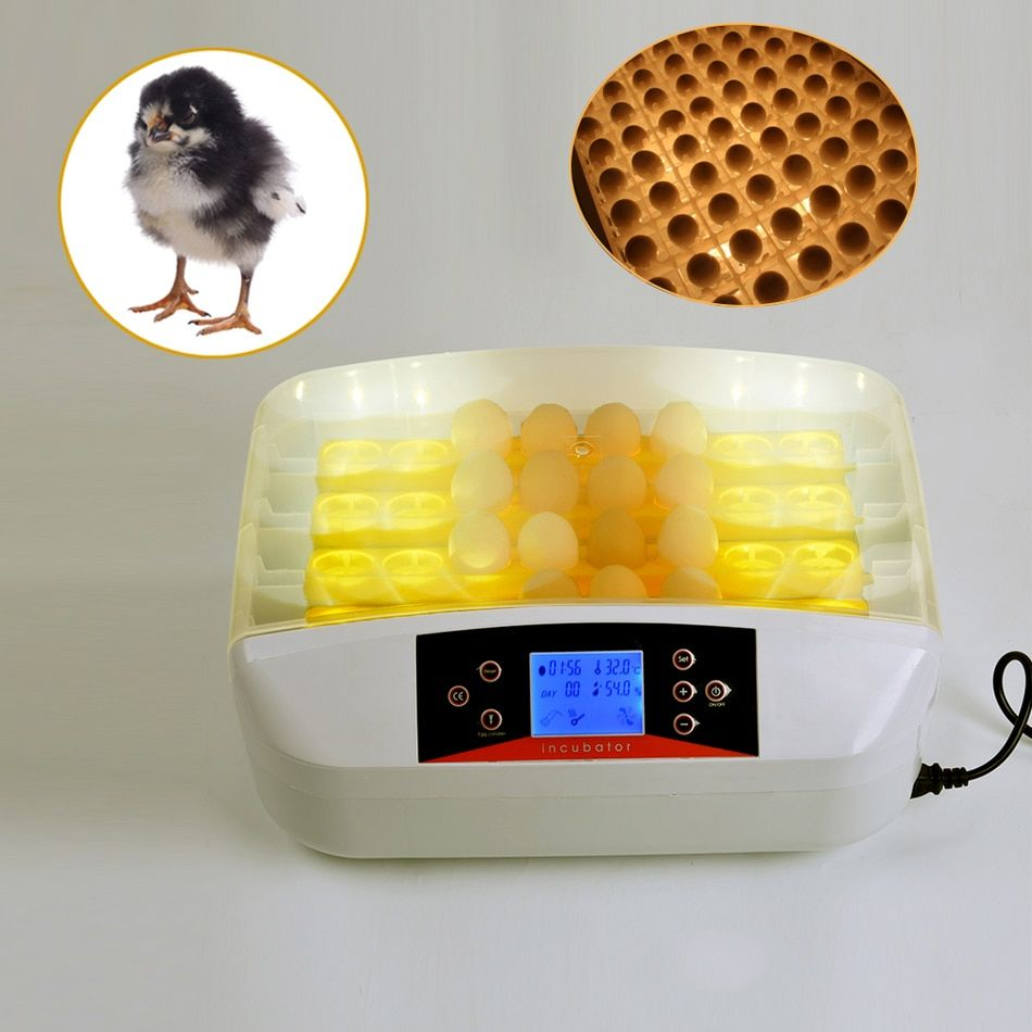 32pcs Egg Incubator Digital Temperature Hatchery Machine Hatcher Hatching Chickens Ducks Geese Aut omatic Poultry Parrots Pigeon