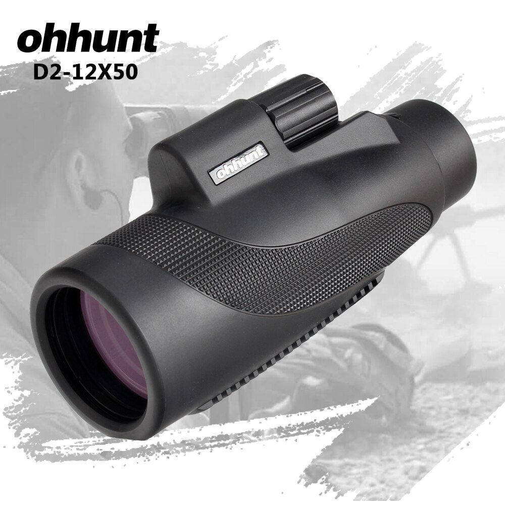Ohhunt Monoculaire 12X50 BAK4 Prisme Étanche Mini Télescope Professionnel Spotting Scope Grand Oculaire En Plein Air Camping Randonnée