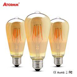 E27 LED Filament Ampoule 4 W 6 W 8 W Ampoule LED E27 Vintage Antique Rétro Edison Bombillas 110 V 220 V Dimmable ST64 LED Diode Lampada