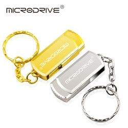 Rotate USB Flash Drive 8GB 16GB 32GB 64GB memory stick metal silver/gold usb 2.0 Pen Drive Easy to carry External storage