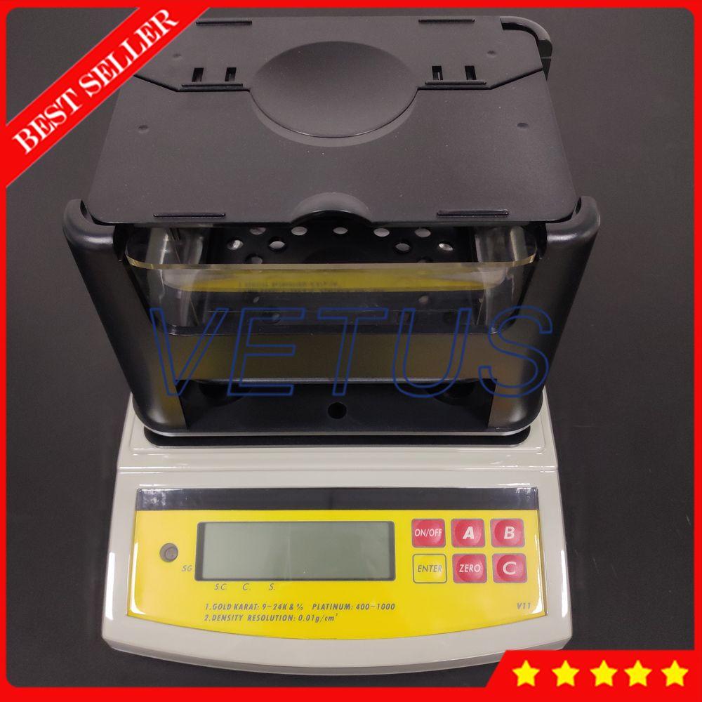 DH-2000K Hohe präzision Digitale Elektronische Gold Tester Reinheit Prüfmaschine Gold Dichtemesser Mit 2000g Maximale gewicht