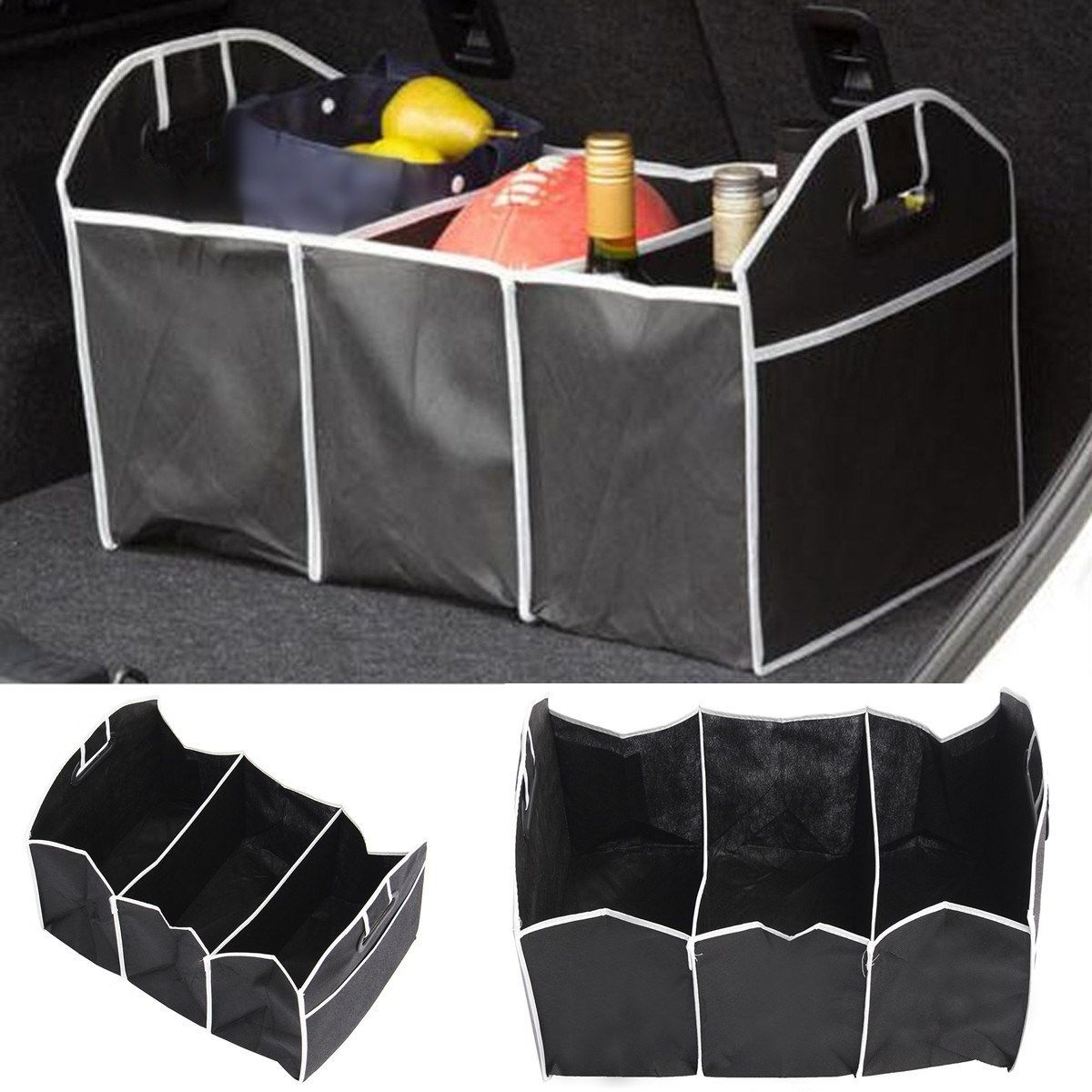 Car Organizer Boot Stuff Food Storage Bag trunk organiser Automobile Stowing Tidying Interior Accessories Folding Collapsible