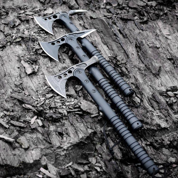 FBIQQ Américain Faucon Axe Tactique Tomahawk Mains de Chasse Extérieure Camping Hache Outil Hache Montagne-coupe