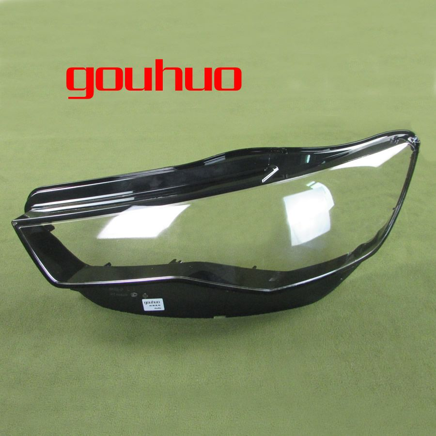 Headlight Transparent Cover Lampshade Headlamp Shell Lens Headlight Glass for Audi A6L C7 16-17 2PCS