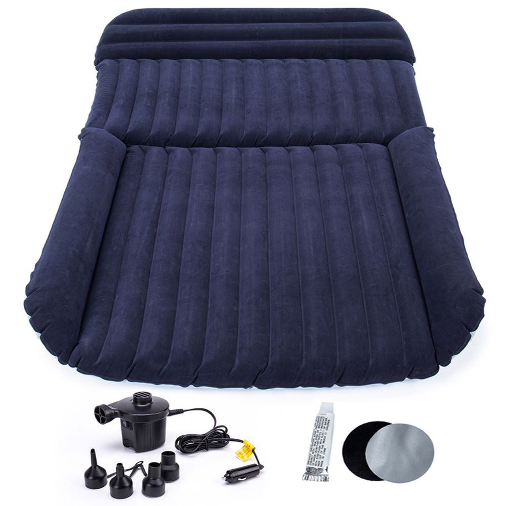 SUV Inflatable Car Bed Air Mattress Outdoor Multifunctional Back Seat with Air Pump 190*118*16CM Travel Camping For Auto Air bed