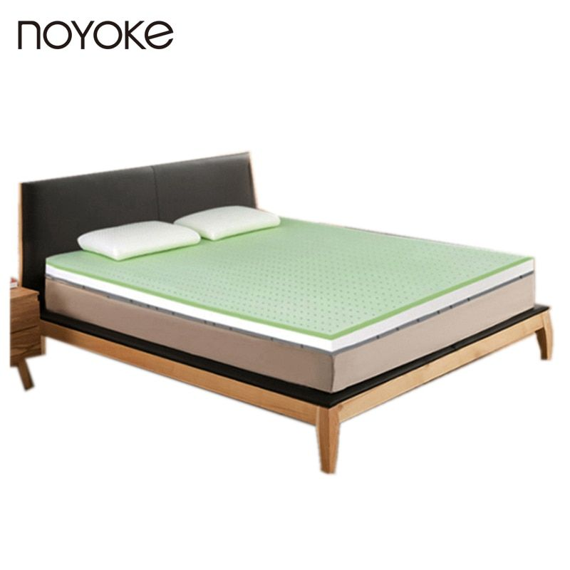 NOYOKE Natural Latex Mattress Topper 5 cm Thickness Negative Ions Natural Latex Soft Mattress Tatami with Removable Cover