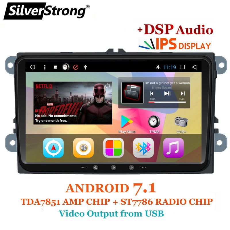 SilverStrong Wholesale 9inch IPS Panel Jetta Android 7.1 DSP Radio Car DVD Android For VW Golf6 MK5 Passat B6 B7 Polo GPS 901T3