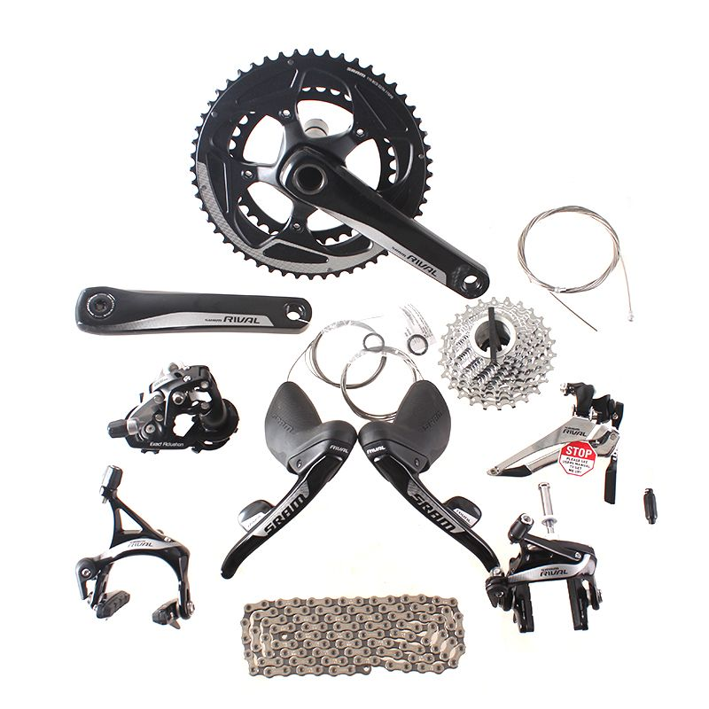 SRAM RIVAL 2x11 22S Speed 50x34 52x36 170mm 172.5mm Road Bike Kit Bicycle Groupset