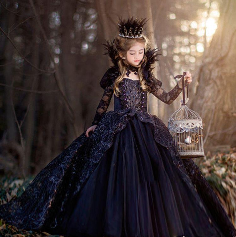 Детские платья Цветочный Обувь для девочек Платья для женщин халат для маленьких принцесс FILLE платок Корона Цепочки и ожерелья Queen для девоч...