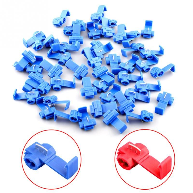 50 teile/beutel Schnellverbinder Rot 18-22/Blue14-18AWG Elektrische Anschlüsse Tap Scotchlock Sortiment Draht-anschlüsse