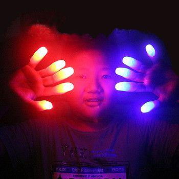 5 Satz Lustige Neuheit Elektronische LED-Licht Blinkt Fingers Magic Trick Props Kinder Luminous Decor Geschenk Kinder Erstaunlichen Glühen Spielzeug