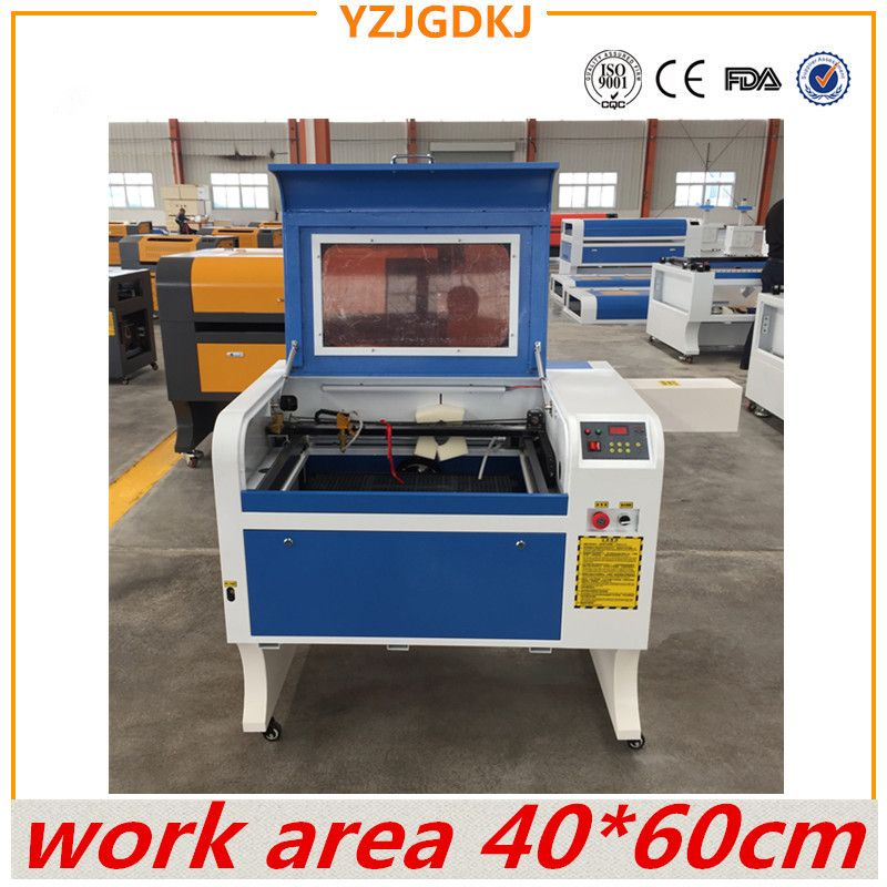 free shipping 4060 220V / 110V laser engraving machine with USB support honeycomb CO2 laser engraving machine work area 40X60cm